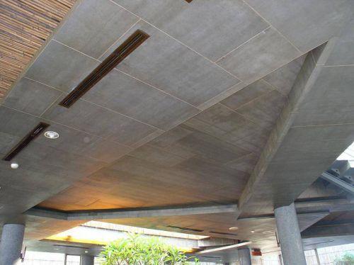 壁岩板做立体式吊顶