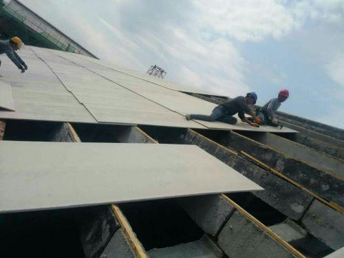 水泥板应用于屋面