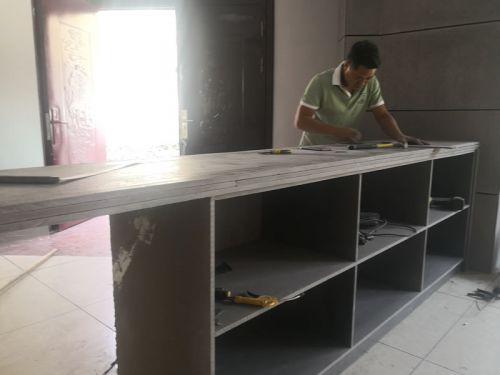 纤维水泥板做吧台
